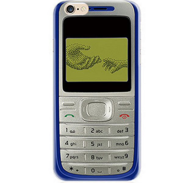 old blue cell phone nokia iPhone 7 Case