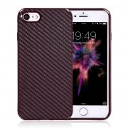 red brown carbon fiber iphone 7 cases