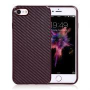red brown carbon fiber iphone 7 plus cases