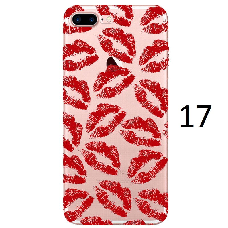 red lipstick kisses kylie jenner iphone 7 case