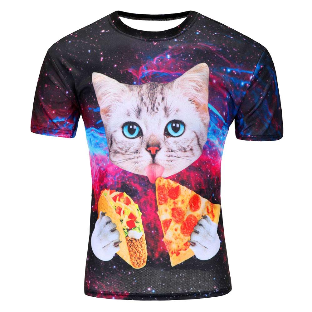 Cat Space Taco Pizza T-Shirt