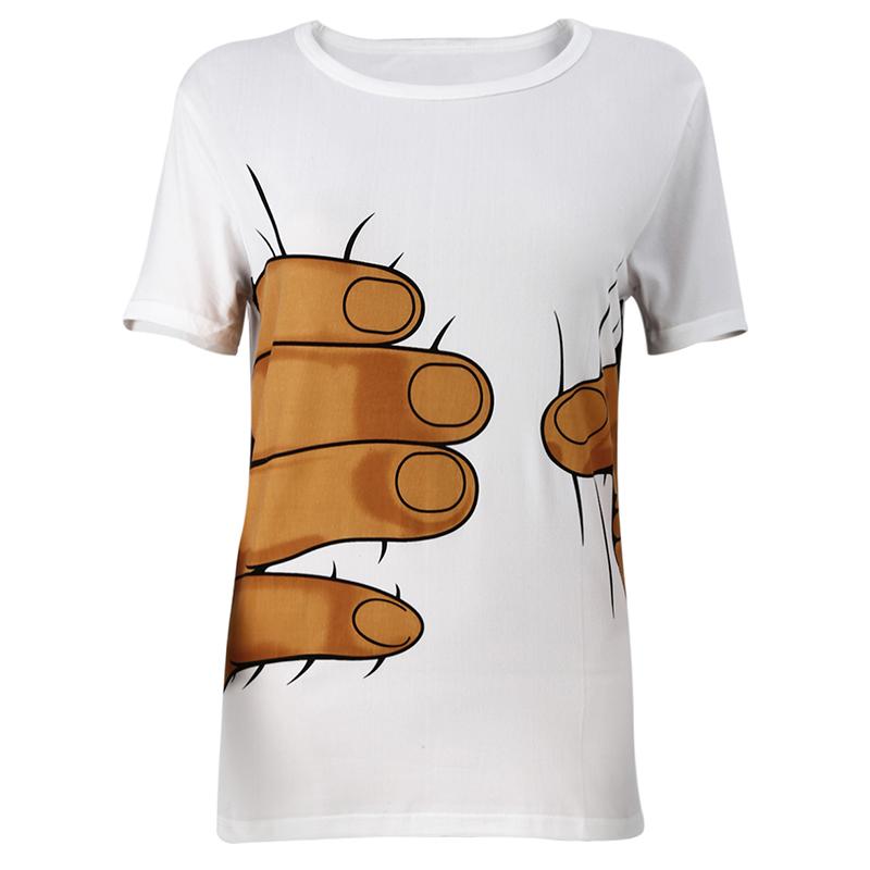 giant hand grabbing tshirt
