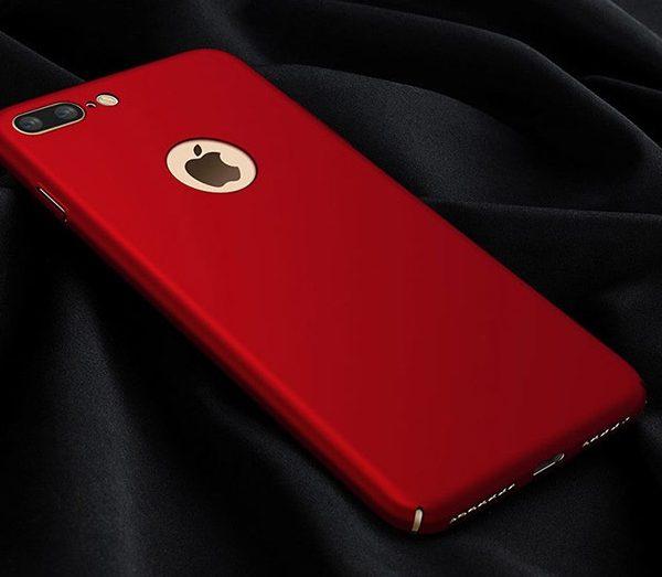 red matte luxury iphone 7 plus case