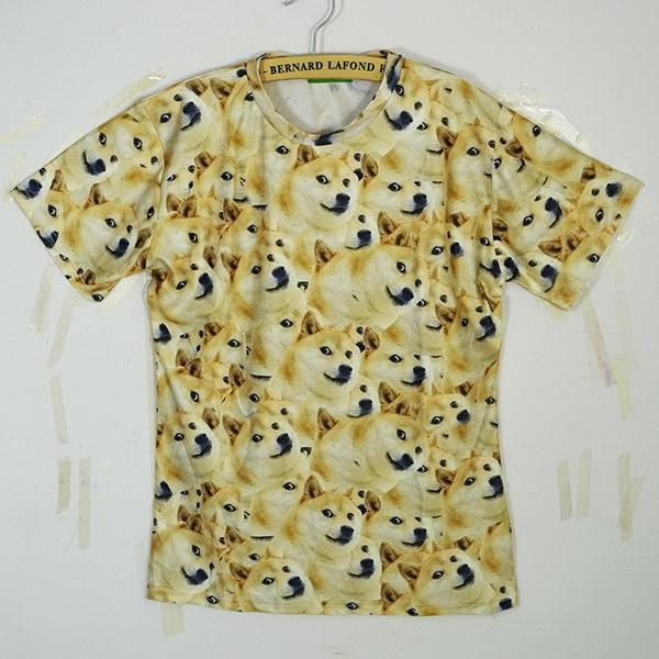 shiba inu print t-shirt