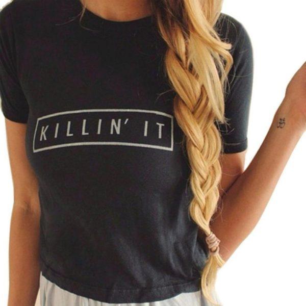 Black killin it women's t-shirt
