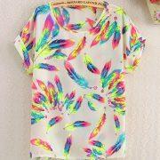 Rainbow Feathers Shirt