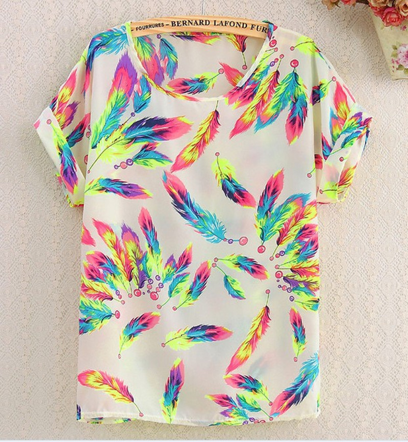 Rainbow Feathers Shirt