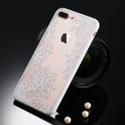 White floral lace iphone 7 plus case