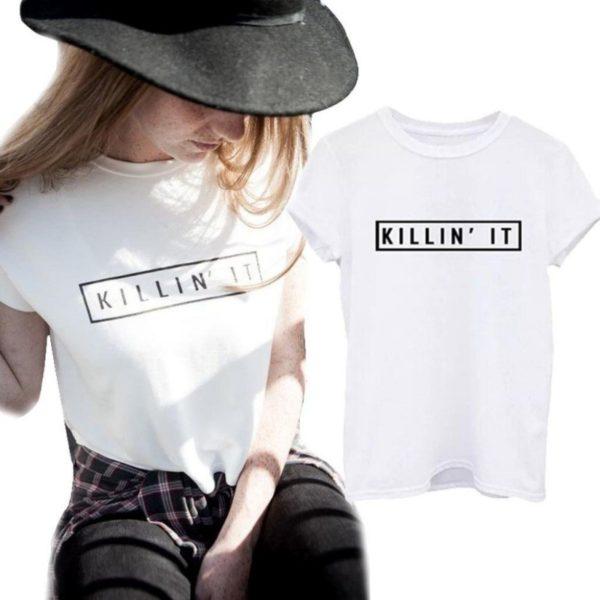 White killin it women's shirt
