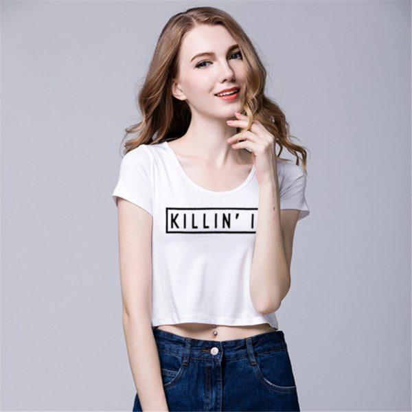 White killin it women's t-shirt