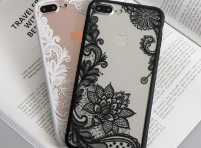 black and white lace iphone 7 plus cases