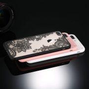 black pink white lace iphone 7 plus caseblack pink white lace iphone 8 plus case