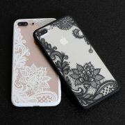 white black lace case iphone 7 plus case