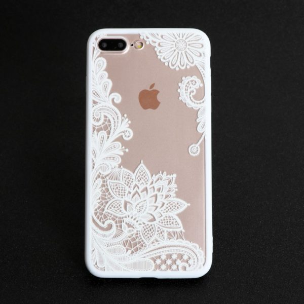 white sexy lace iphone 7 plus case