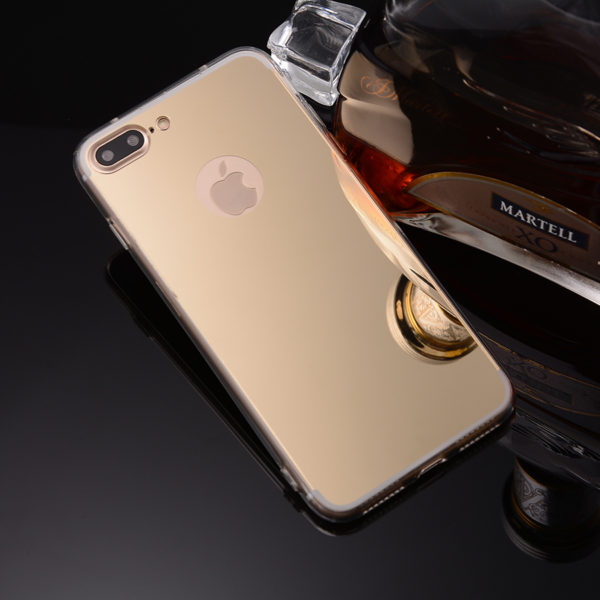 iphone 7 plus gold mirror case