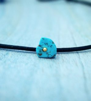 blue stone choker necklace