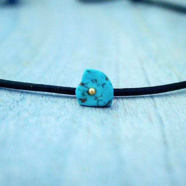 blue stone choker necklace