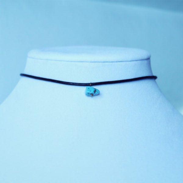 blue turquoise charm choker