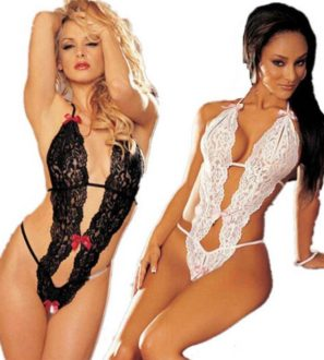 black and white lace one piece swimsuits