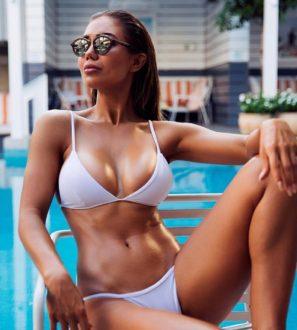 white push up bikini