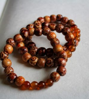 handmade brown yoga bracelet