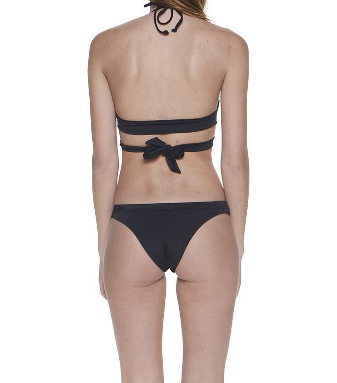ae2958b0bc Black Front Cross Straps Women s Bikini Swimsuit Sets - Retailite
