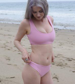 light pink bikini set