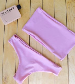 pink handmade bikini