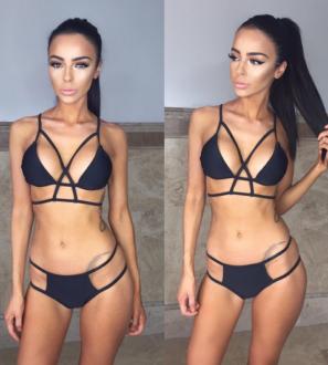 Black Strappy Bondage Bikini