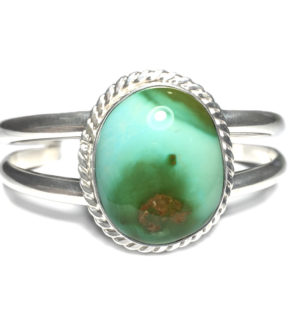 Paradise Turquoise Sterling Silver Premium Cuff Bracelet Front