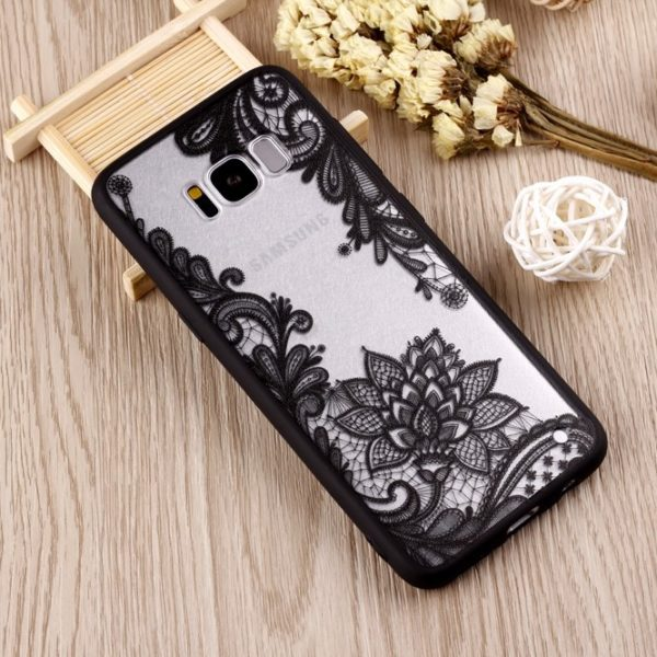 Black Lace Galaxy S8 Case