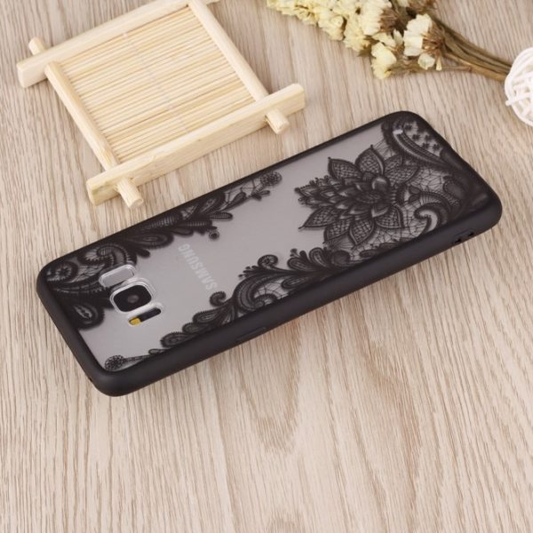 galaxy s8 plus black lace case
