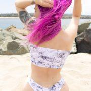 marble handmade bikini set