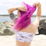 marble handmade bikini top