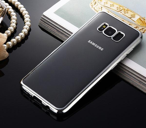 silver chrome framed samsung galaxy s8 s8 plus case