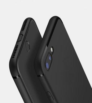 Black slim iPhone 7 Plus 8 Plus X Case