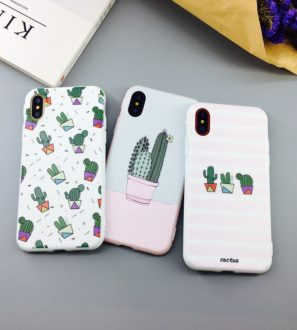 Cute cactus iPhone 7 8 Plus X Cases