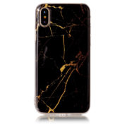 black and gold marble iphone 7 8 plus X Case