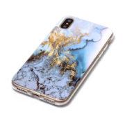 blue gold marble iphone 7 8 plus X Case