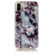 dark blue and gold marble iphone 7 8 plus X Case