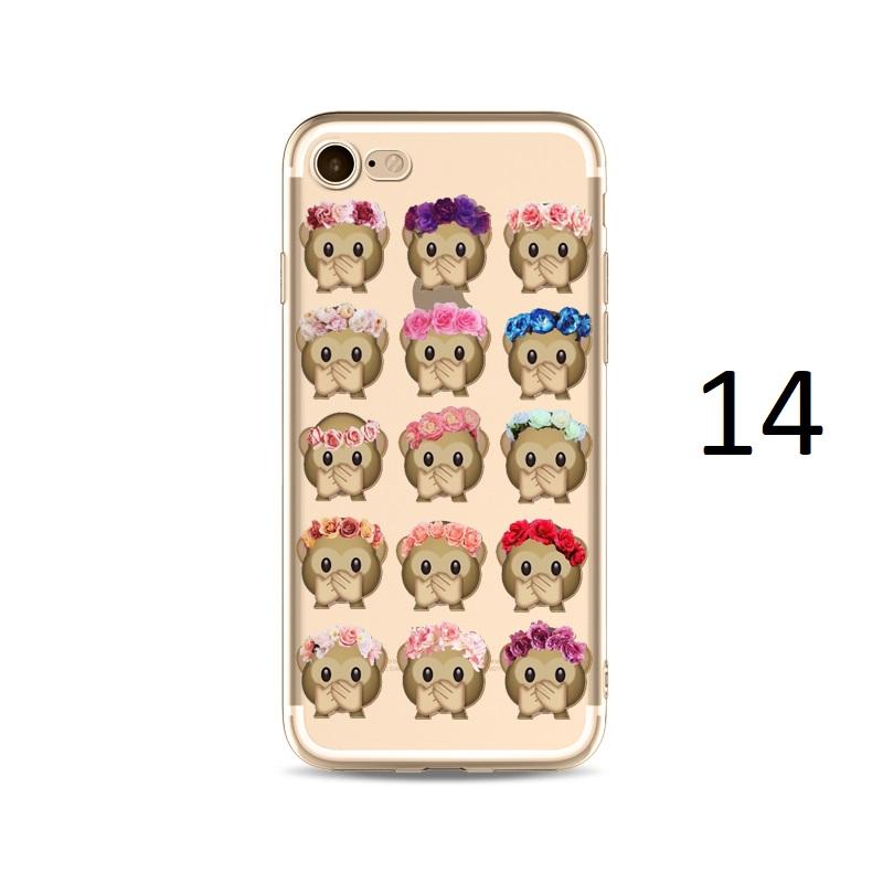 flower hat monkey hands over mouth emoji iphone x 8 7 plus case