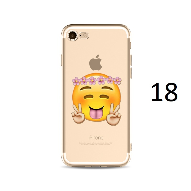 flower hat tongue out peace sign emoji iphone x 8 7 plus case