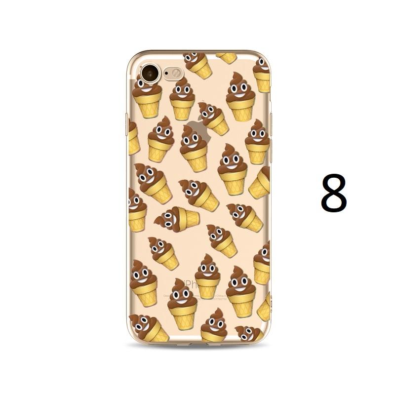 poo ice cream cone emoji iphone X 8 7 Plus case
