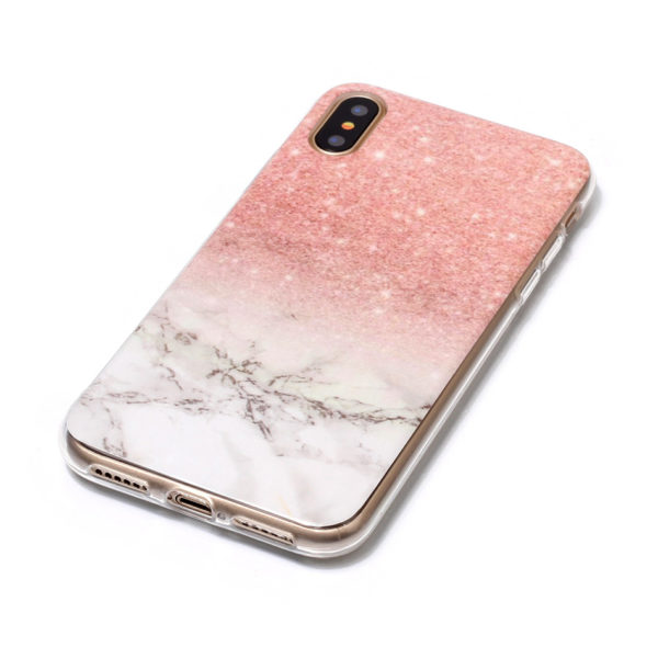 red and white marble fade iphone 7 8 plus X case