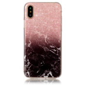 red black fade marble iphone 7 8 plus X Case