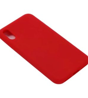 red iphone x soft case