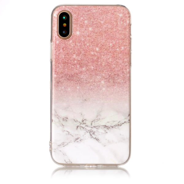 red white fade marble iphone 7 8 plus X Case
