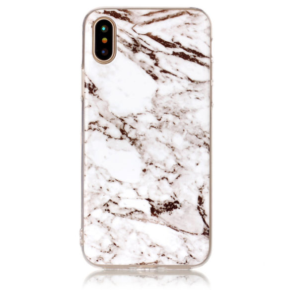 white and black marble iphone 7 8 plus X Case