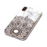 white marble and henna iphone 7 8 plus X Case