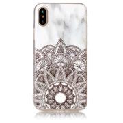 white marble henna iphone 7 8 plus X Case